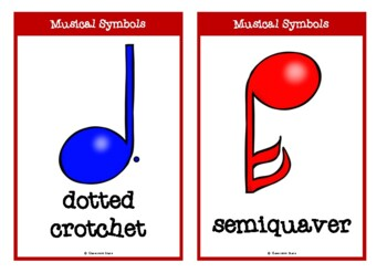 Musical Symbols with Words