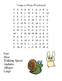 Musical Tempos Word Search Pack