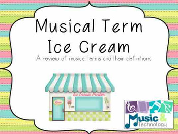 Musical Term Ice Cream Matching Printable