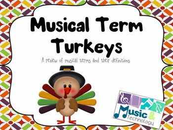 Musical Term Turkeys Printable