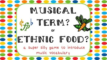 Musical Term or Ethnic Food?