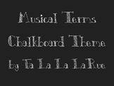 Musical Terms Chalkboard Theme