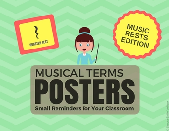 Musical Terms Posters - Music Rests Edition