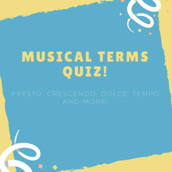 Musical Terms Quiz