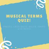 Musical Terms Quiz