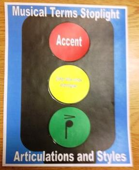 Musical Terms Stoplight Activity
