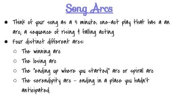 Musical Theatre Acting Through Song & Song Arcs PPT