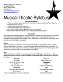 Hamilton Themed Musical Theatre Class Syllabus