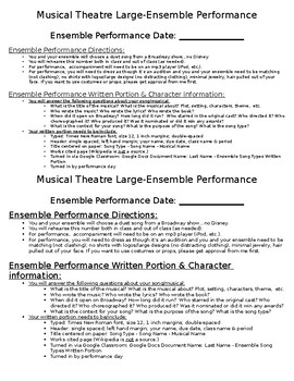 Musical Theatre Large Ensemble Performance Project