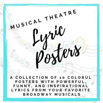 Musical Theatre Lyric Posters