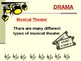 Musical Theatre Notes - PowerPoint