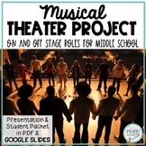 Musical Theatre Project: On and Off-Stage Roles - for Middle/High School
