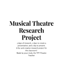 Musical Theatre Research Project