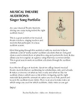 Musical Theatre Student - Audition Portfolio