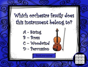 Musical Tic Tac Toe:  Orchestra Families