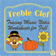 Musical Tracing Worksheets Bundle for Fall