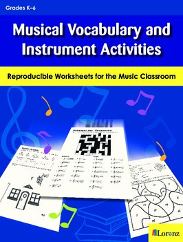 Musical Vocabulary and Instrument Activities