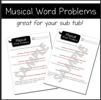 Musical Word Problems