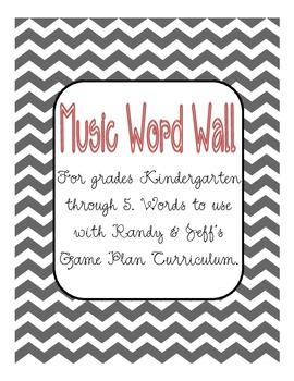 Musical Word Wall