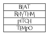 Musical Word Wall - 60 Words - PDF