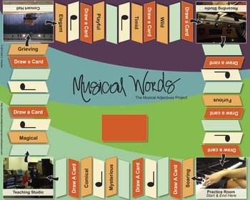 Musical Words Board Game Laminated