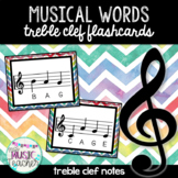 Musical Words Flashcards (Treble Clef Notes)
