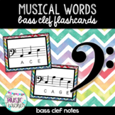 Musical Words Flashcards (Bass Clef Notes)
