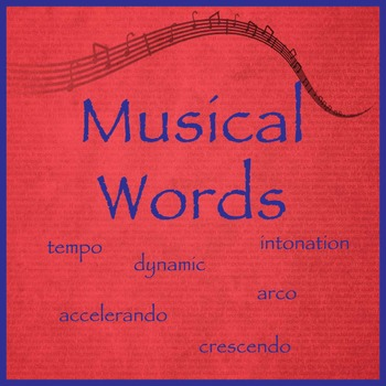 Musical Words in Color