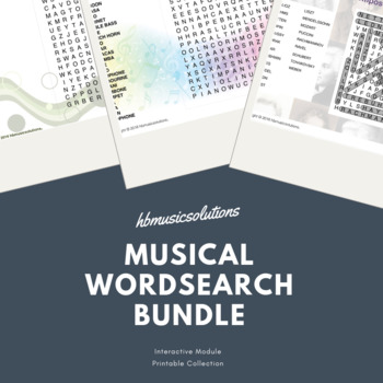 Musical Wordsearch Complete Bundle