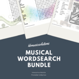 Musical Wordsearch Distance Learning Complete Bundle