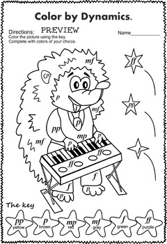 Musical animals:  Color by Dynamics