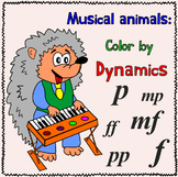 Music Coloring Pages    Color by Dynamics   Musical Animals