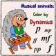 Musical animals Color by Music Pack