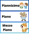 Musical dynamics flashcards