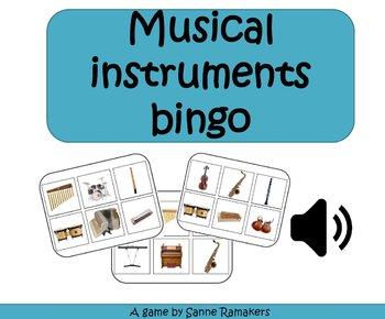 Musical instruments bingo