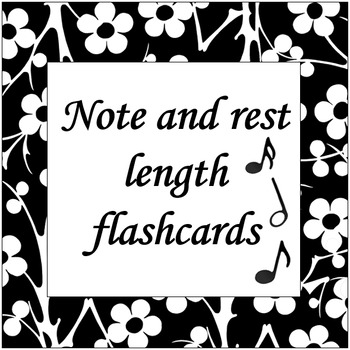 Musical note and rest length flashcards (note value)