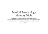 Musical terminology (Dynamics) Memory Game