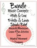 MontessoriLove Musically Montessori Bundle: Pitch, Tempo, &Steady Beat