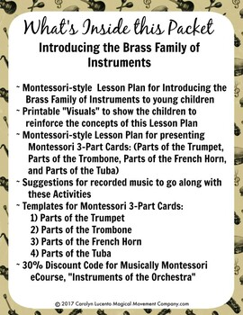 Musically Montessori: Introducing the Brass Family of Instruments