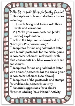 "Musically Montessori: Valentines Day ""Postperson Song and Activities"""