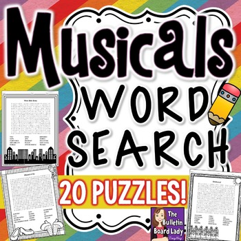 Musicals Word Search Puzzles