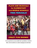 Musicals and Plays for Elementary and Middle Schools