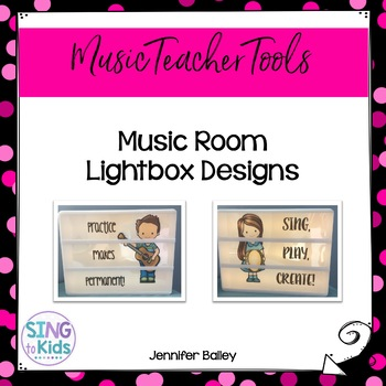 Music Room Lightbox Designs