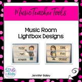 Music Room Lightbox Designs