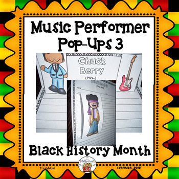 Musician Performer Pop-Ups 3 (Black History Month)