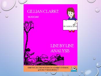 Musician by Gillian Clarke: an analysis