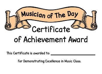 Musician of The Day Award