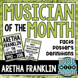 Musician of the Month: Aretha Franklin Bulletin Board Pack