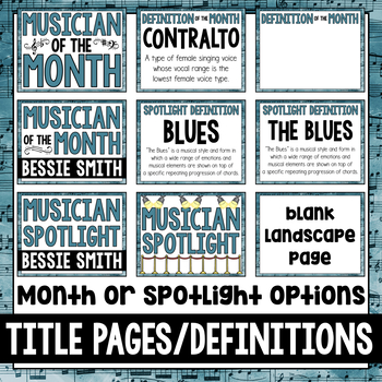 Musician of the Month: Bessie Smith Bulletin Board Pack