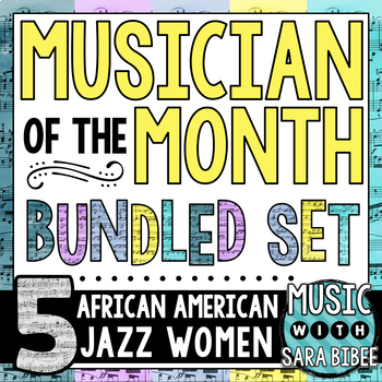 Musician of the Month: Bundle - African American Jazz Women
